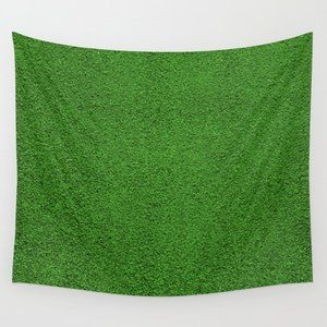 Green Grass Wall Tapestry by Patterns and Textures